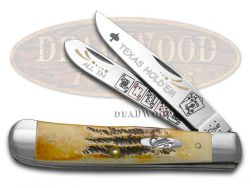 Case xx Trapper Knife Texas Hold'Em Genuine 6.5 BoneStag 1/600 Stainless Pocket