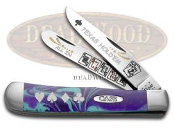 Case xx Trapper Knife Texas Hold'Em Indian Princess Corelon Stainless Pocke