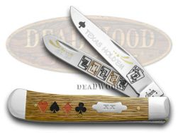 Case xx TEXAS HOLDEM Oak Trapper Pocket Knife Knives