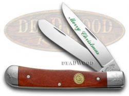 Canal Street Trapper Knife Merry Christmas Red Bone 1/100 Stainless 2154543