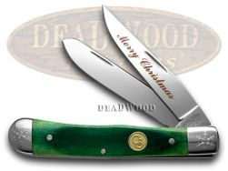 Canal Street Trapper Knife Merry Christmas Green Bone 1/100 Stainless 2154544