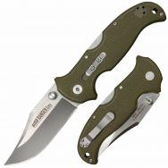 COLD STEEL Bush Ranger Lite Lockback 21A Knife 8Cr13MoV Stainless & OD Green GFN