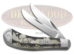 Case xx Yellowhorse Saddlehorn Knife Grizzly Mtn Natural Bone Scrolled 1/500