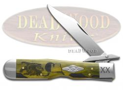 Case xx Yellowhorse Cheetah Knife Early Morning Singer Olive Green Bone 1/500