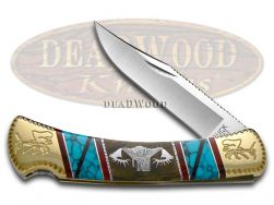Buck 110 Yellowhorse Folding Hunter Knife Elk Mountain Exotic Handle Custom 1/1