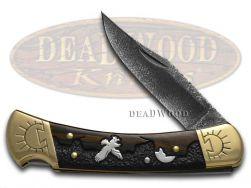 Buck 110 Yellowhorse Folding Hunter Knife Eagle Mountain Ebony Wood 1/100