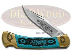 David Yellowhorse Buck 110 Spirit Chief Knife Turquoise Stone 1/25 Knives