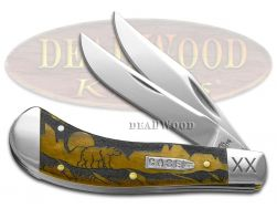 Case xx Yellowhorse Saddlehorn Knife Grizzly Mountain Antique Bone 1/500 Pocket