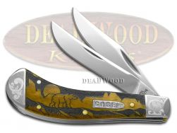 Case xx Yellowhorse Saddlehorn Knife Grizzly Mtn Antique Bone Scrolled 1/200