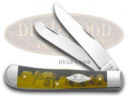 Case xx Yellowhorse Trapper Knife Buffalo Hunt Antique Bone 1/500 Stainless