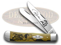 Case xx Yellowhorse Trapper Knife Early Morning Singer Antique Bone 1/500