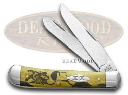 Case xx Yellowhorse Trapper Knife Early Morning Singer Bone 1/25 Hammered Steel