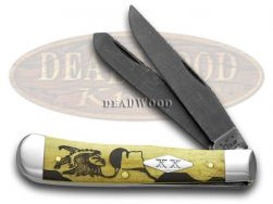 Case xx Yellowhorse Trapper Knife Early Morning Singer Natve Steel Bone 1/25