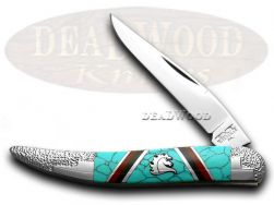 Schatt & Morgan Yellowhorse Toothpick Knife Turquoise 1/100 Stainless Pocket