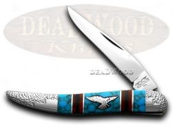 Schatt & Morgan Yellowhorse Toothpick Knife Eagle Turquoise 1/100 Stainless