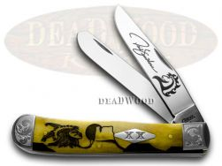 Case xx Yellowhorse Trapper Knife Scrolled Early Morning Singer Antique 1/500