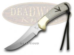 German Bull White Smooth Bone Turkey Track Fixed Blade Knife 109-TT-WSB Knives