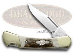 German Bull Lockback Knife Deer Stag Stainless German Pocket Knives GB-110