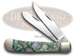 German Bull Mozaic Celluloid Trapper Pocket Knife 254MOZ Knives