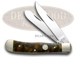 German Bull Trapper Knife Tortoise Shell Celluloid Stainless Pocket GB-254T