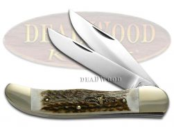 German Bull Deer Stag Folding Hunter Pocket Knife 69DS Knives