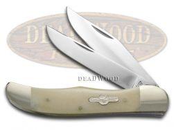 German Bull Smooth White Bone Folding Hunter Stainless Pocket Knife 69WSB Knives