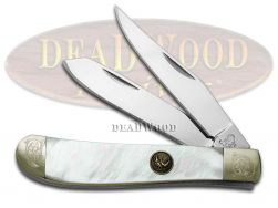 Hen & Rooster Mini Trapper Knife Mother of Pearl 1/500 Engraved 212-MOP/ENG