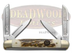 Hen & Rooster Medium Congress Knife Deer Stag Coon Hunter Stainless 214-DS/CH