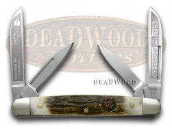 Hen & Rooster Medium Congress Knife Deer Hunter Genuine Stag Handle 214-DS/DH