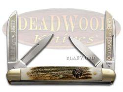 Hen & Rooster Medium Congress Knife Deer Stag Hillbilly Congress Stainless