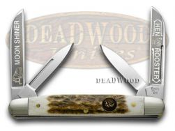 Hen & Rooster Medium Congress Knife Moon Shiner Genuine Deer Stag 214-DS/MS