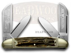 Hen & Rooster Large Congress Knife Coon Hunter Deer Stag Stainless 224-DS/CH