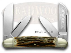 Hen & Rooster Large Congress Knife Deer Stag Stainless Pocket Knives 224-DS