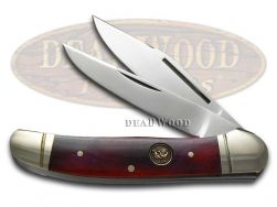 Hen & Rooster Smooth Brown Bone Copperhead Stainless 232BRB Pocket Knife