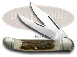 Hen & Rooster Copperhead Knife Deer Stag Handle Stainless Pocket Knives 232-DS