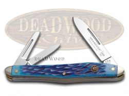 Hen & Rooster Whittler Knife Blue Pick Bone Stainless Pocket Knives 233-BLPB