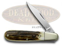 Hen & Rooster Barlow Knife Genuine Deer Stag Stainless Pocket Knives 241-DS