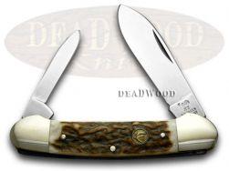 Hen & Rooster Genuine Deer Stag Canoe Pocket Knife 252DS Knives