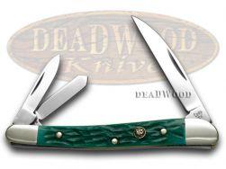 Hen & Rooster Wharncliffe Whittler Knife Green Pick Bone Stainless 263-GPB