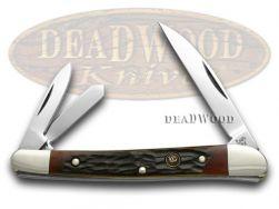 Hen & Rooster Red Walnut Jigged Wharncliffe Whittler 263RWJ Pocket Knife