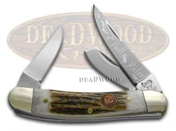 Hen & Rooster Sowbelly Knife Bull Rider Genuine Deer Stag Stainless 283-DS/BR