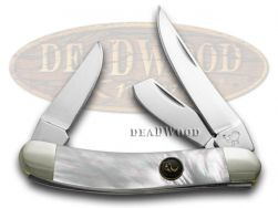 Hen & Rooster Sowbelly Knife Mother of Pearl Stainless Pocket Knives 283-MOP