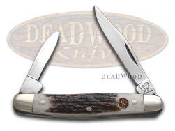 Hen & Rooster Pen Knife Genuine Deer Stag Stainless Pocket Knives 302-DS