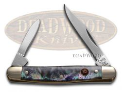 Hen & Rooster Imitation Abalone Celluloid Pen Stainless 302IAB Pocket Knife