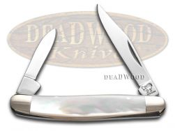 Hen & Rooster Pen Knife Mother Of Pearl Handle Stainless Pocket Knives 302-MOP