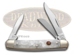 Hen & Rooster Small Stockman Knife Cracked Ice Celluloid Stainless 303-CI