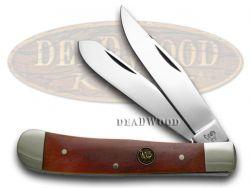 Hen & Rooster Smooth Brown Bone Trapper Pocket Knife 312BRB Knives