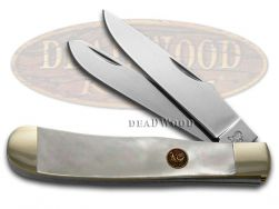 Hen & Rooster Trapper Knife Mother of Pearl Stainless Pocket Knives 312-MOP