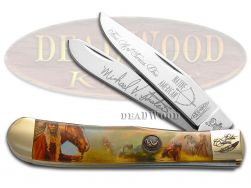 Hen & Rooster Painted Pony Trapper Knife Native American Art Dreamweaver NA2