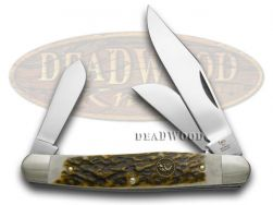 Hen & Rooster Large Stockman Knife Deer Stag Stainless Pocket Knives 313-DS